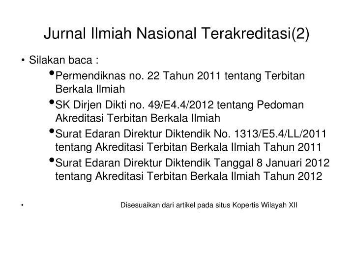 Jurnal Ilmiah Nasional Terakreditasi(2)