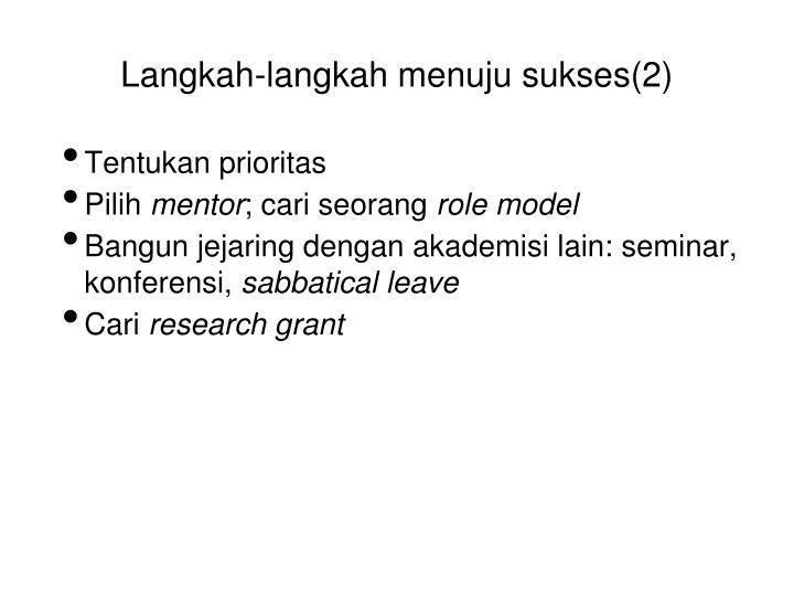 Langkah-langkah menuju sukses(2)