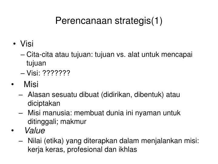 Perencanaan strategis(1)