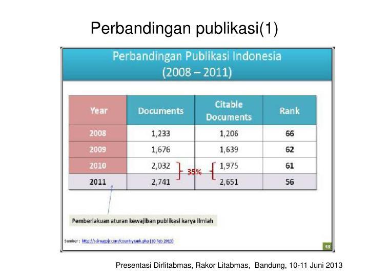 Perbandingan publikasi(1)