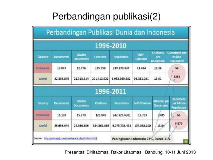 Perbandingan publikasi(2)