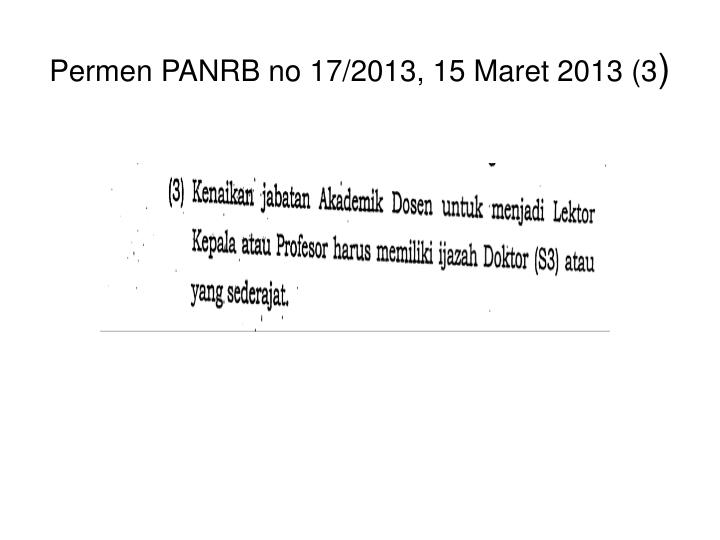 Permen PANRB no 17/2013, 15 Maret 2013 (3
