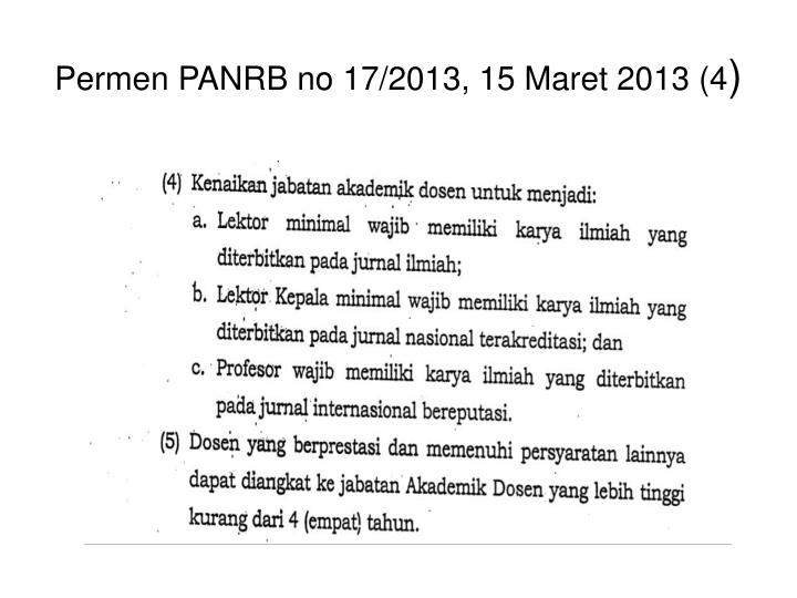 Permen PANRB no 17/2013, 15 Maret 2013 (4