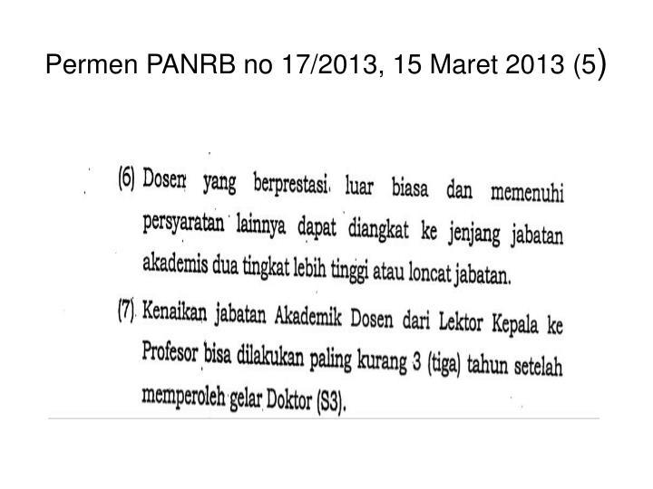 Permen PANRB no 17/2013, 15 Maret 2013 (5