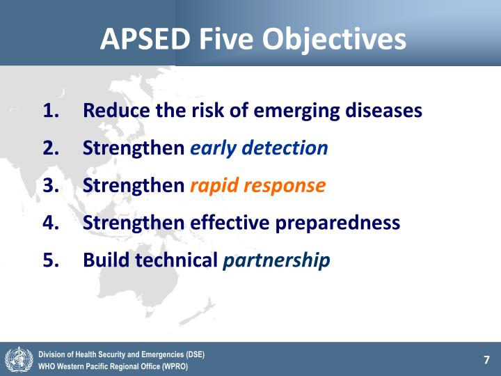 APSED Five Objectives