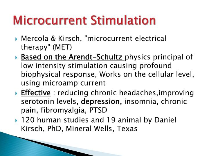 Microcurrent Stimulation