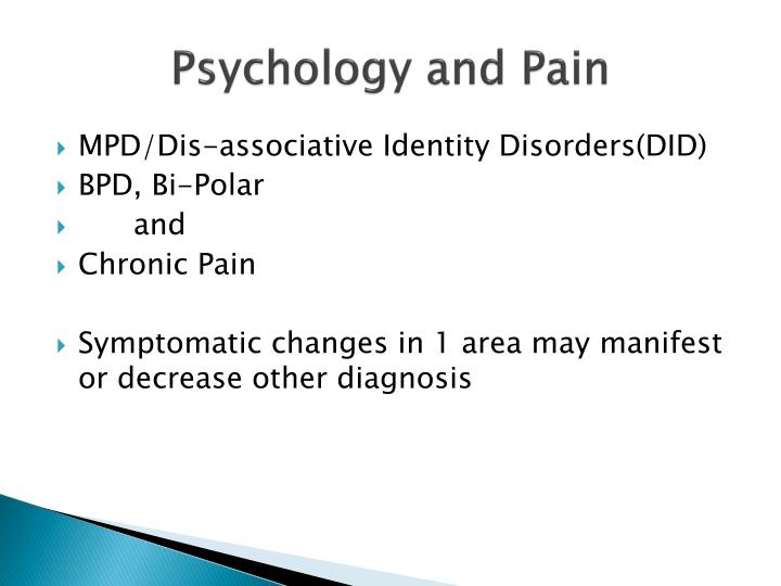 Psychology and Pain