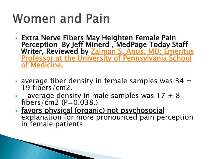 Women and Pain