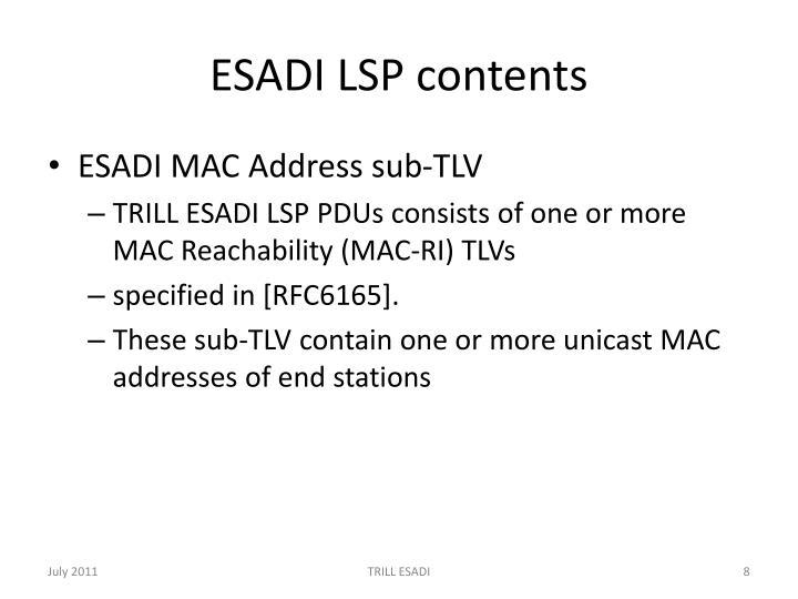 ESADI LSP contents