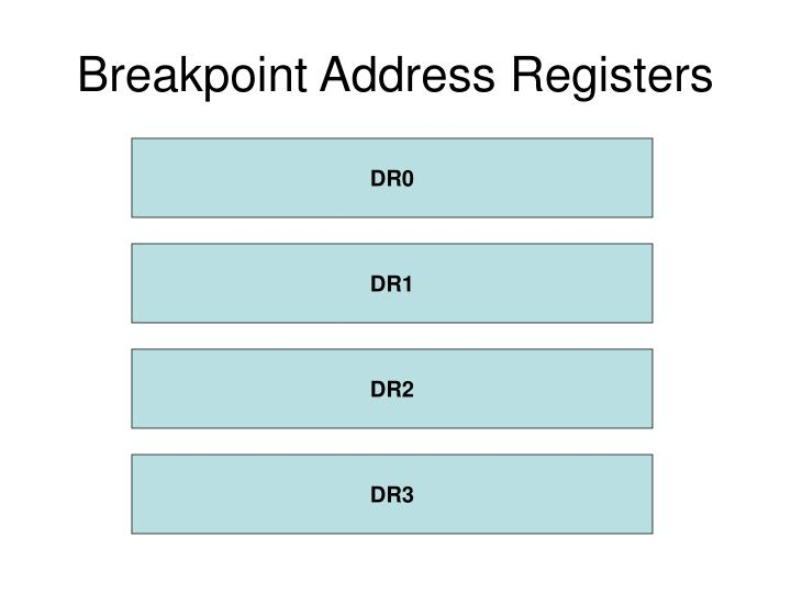 Breakpoint Address Registers
