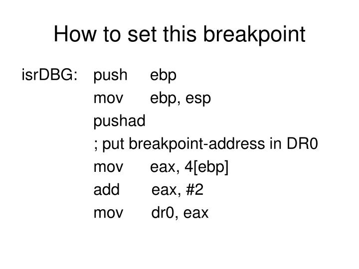 How to set this breakpoint