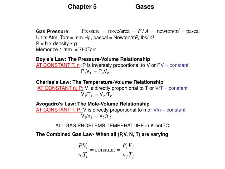 Chapter 5Gases