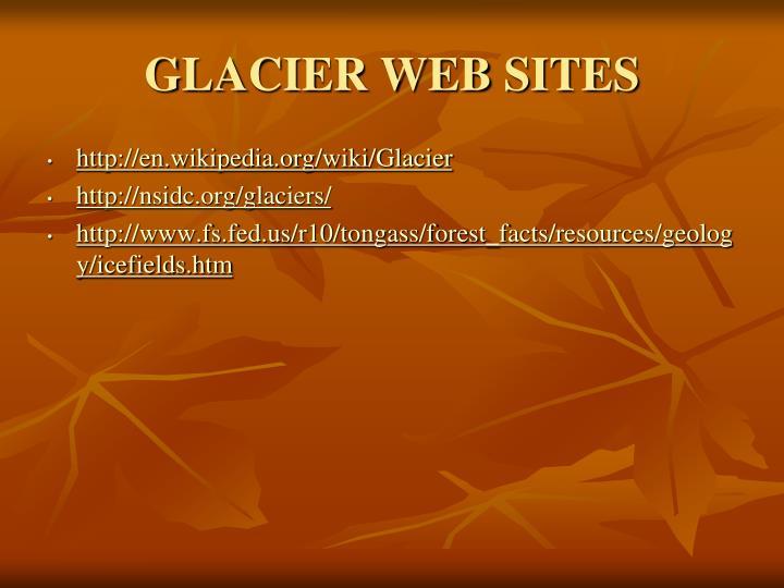 GLACIER WEB SITES