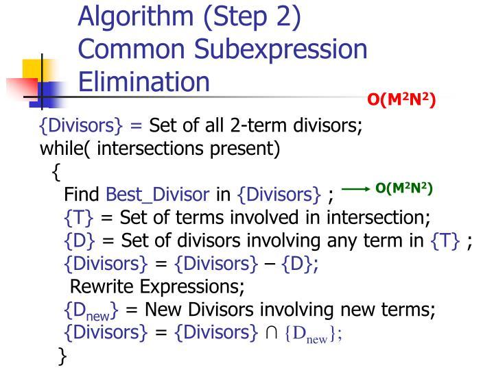 Algorithm (Step 2)