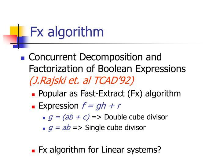 Fx algorithm