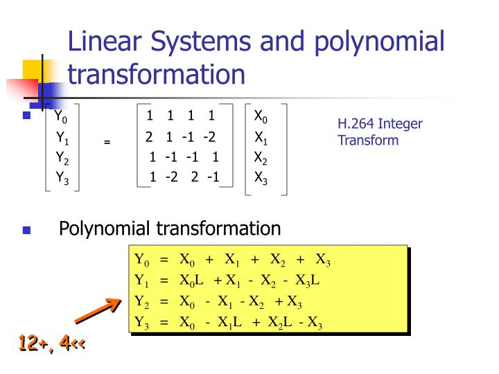 Linear Systems and polynomial transformation
