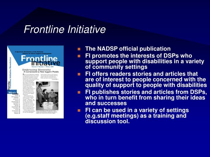 Frontline Initiative