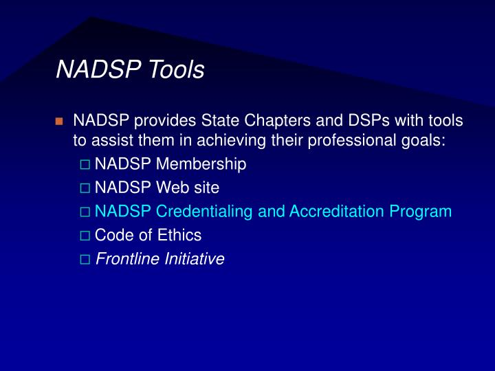 NADSP Tools
