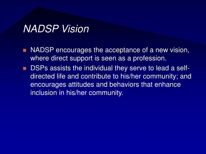 NADSP Vision