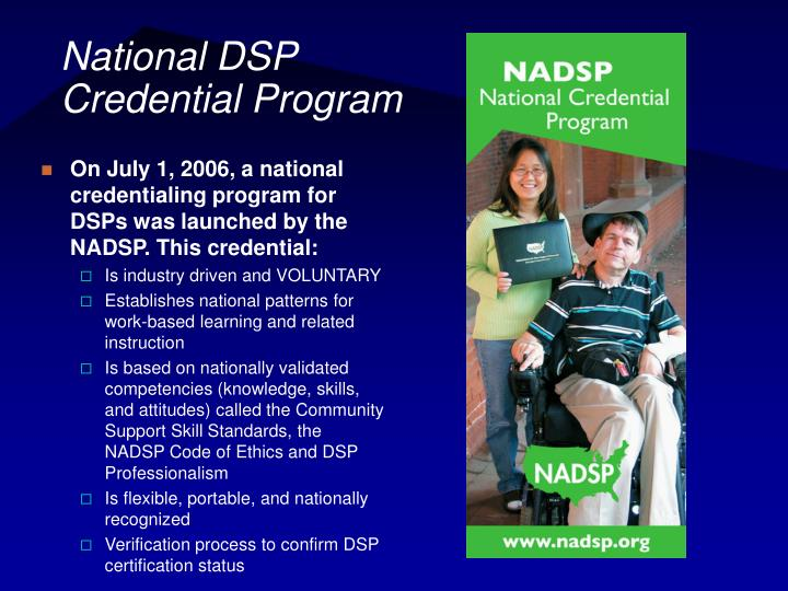 National DSP