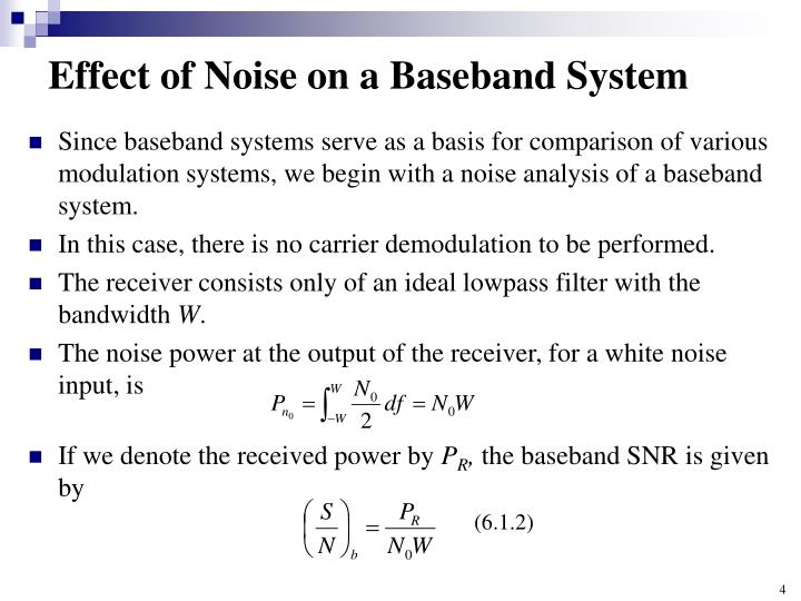 Effect of Noise on a Baseband System
