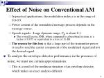 effect of noise on conventional am2