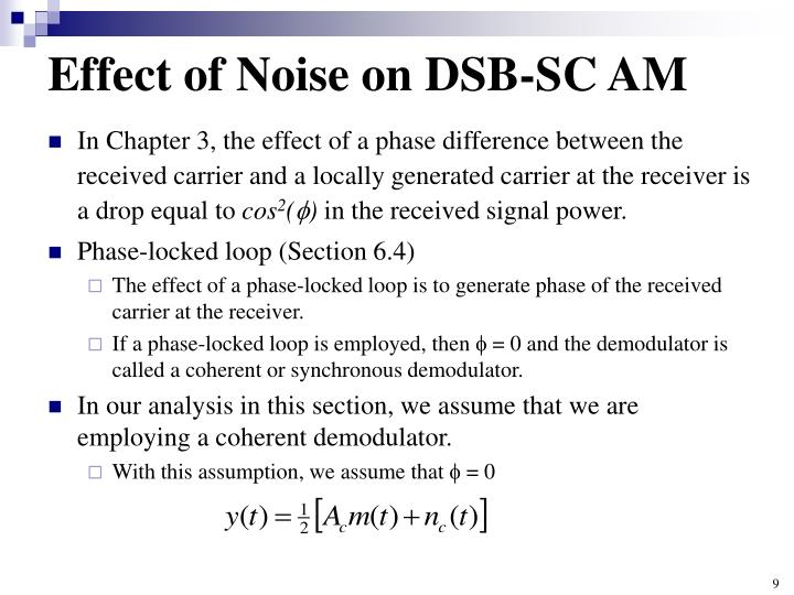 Effect of Noise on DSB-SC AM