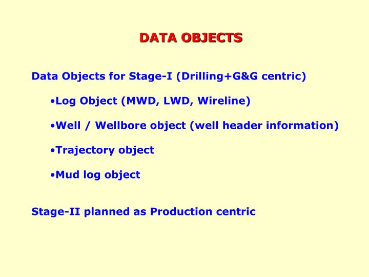 DATA OBJECTS