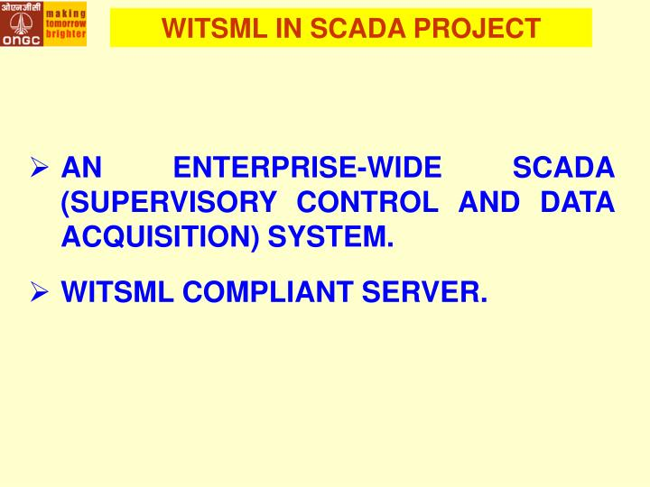WITSML IN SCADA PROJECT