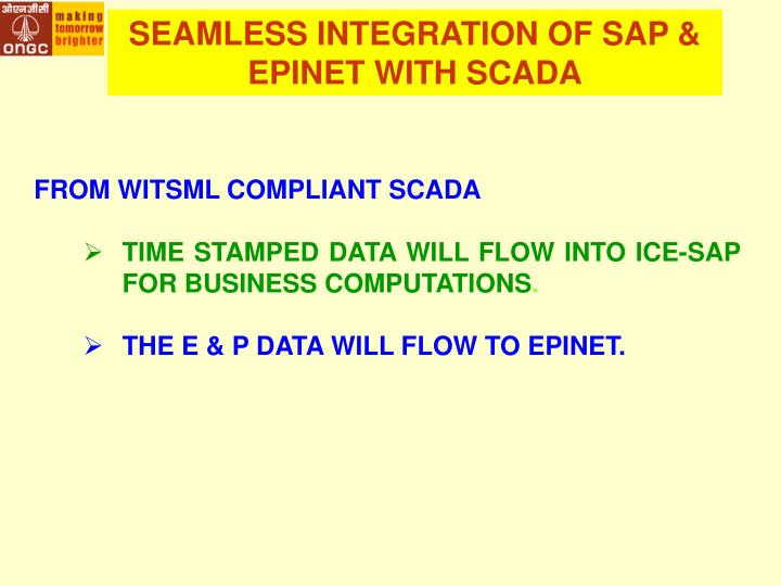 SEAMLESS INTEGRATION OF SAP & EPINET WITH SCADA
