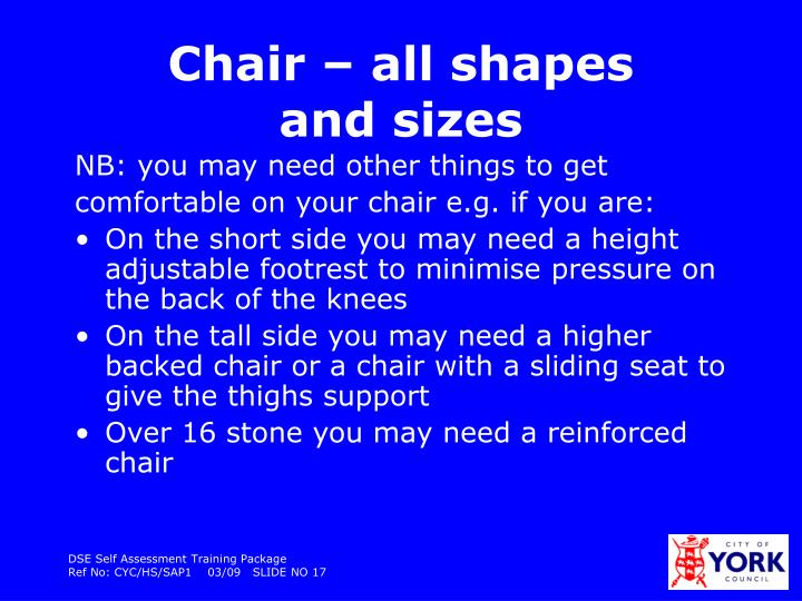 Chair – all shapes