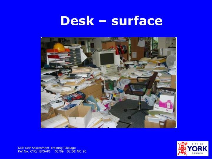 Desk – surface