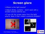 screen glare