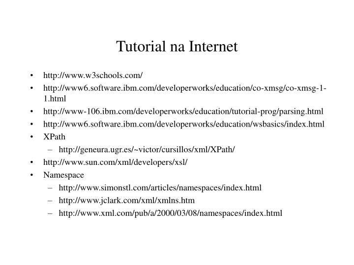 Tutorial na Internet
