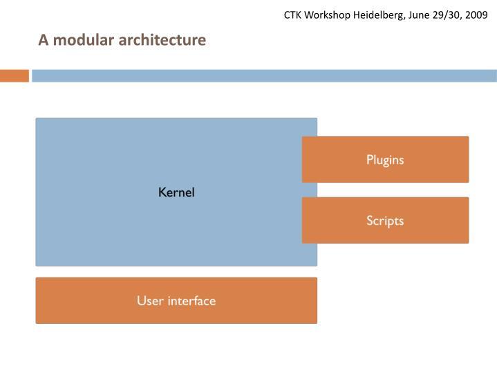 A modular architecture