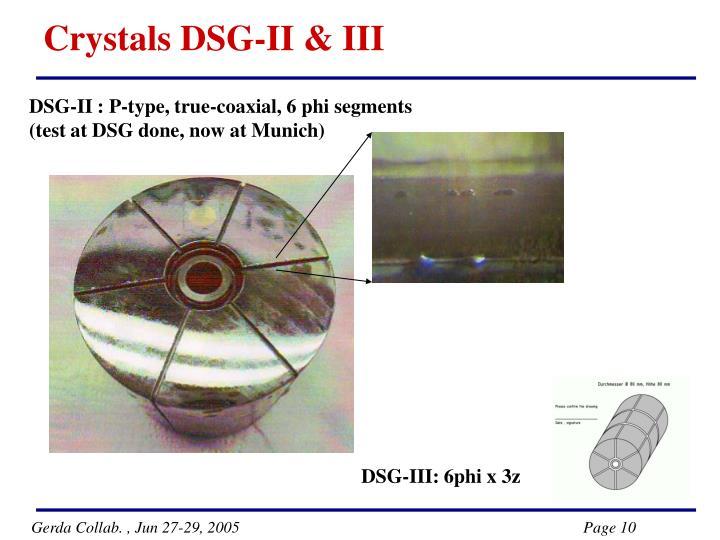 Crystals DSG-II & III