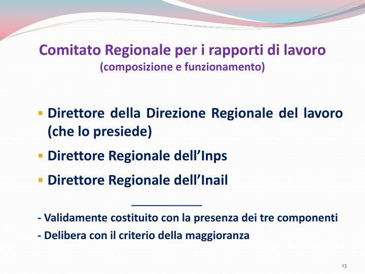 Comitato Regionale per i rapporti di lavoro