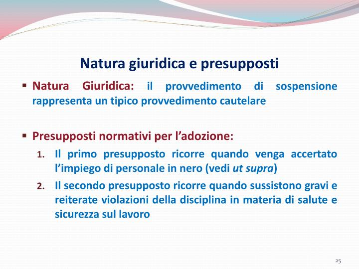 Natura giuridica e presupposti