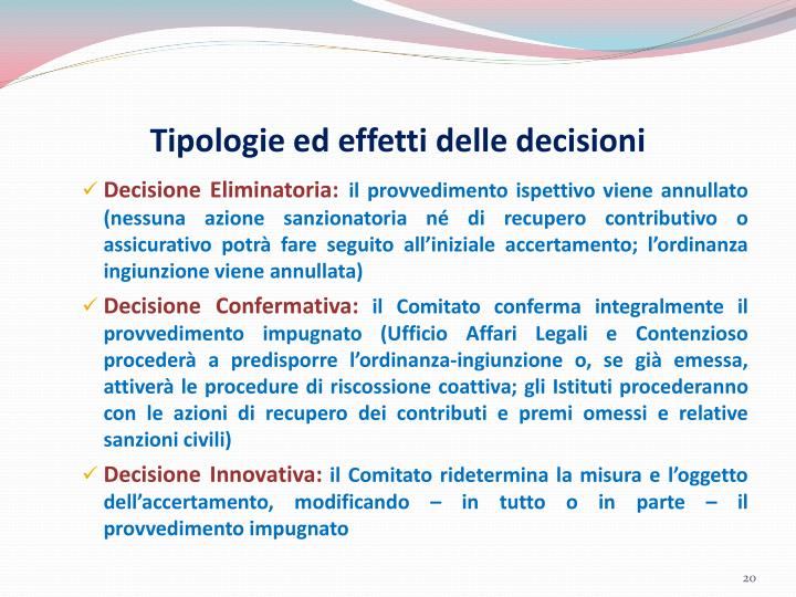 Tipologie ed effetti delle decisioni