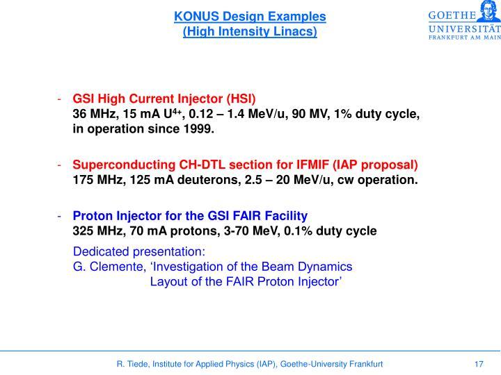 KONUS Design Examples