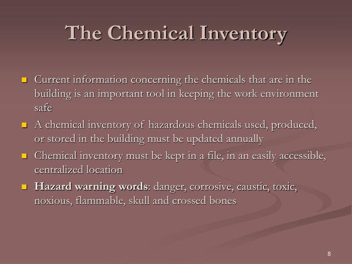 The Chemical Inventory