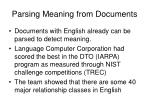 parsing meaning from documents