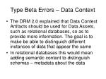 type beta errors data context