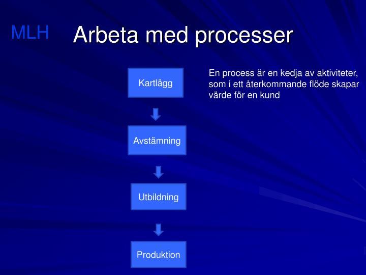 Arbeta med processer