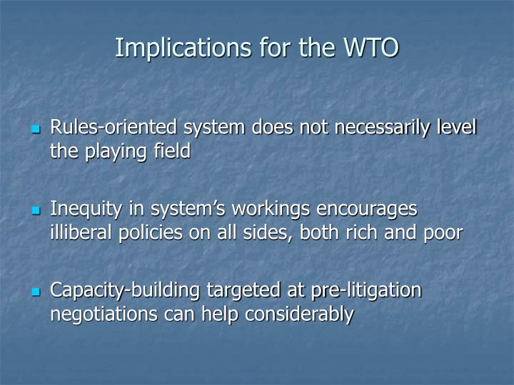 Implications for the WTO