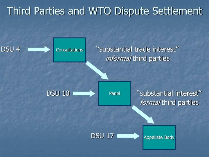 Third Parties and WTO Dispute Settlement