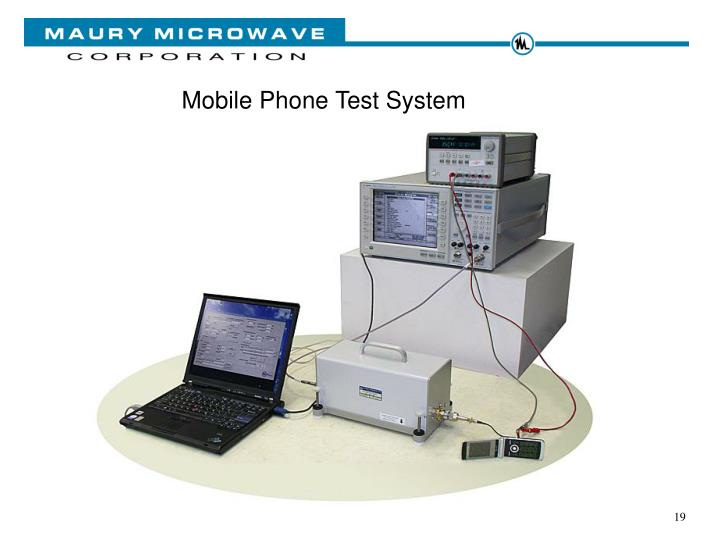 Mobile Phone Test System