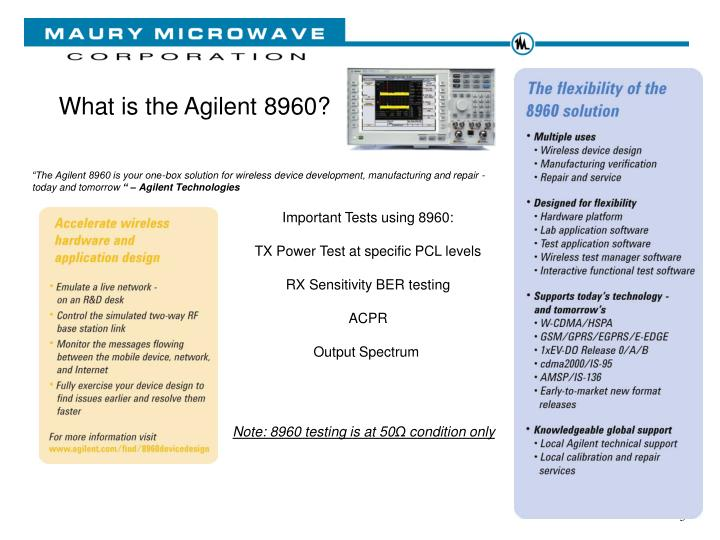 What is the Agilent 8960?