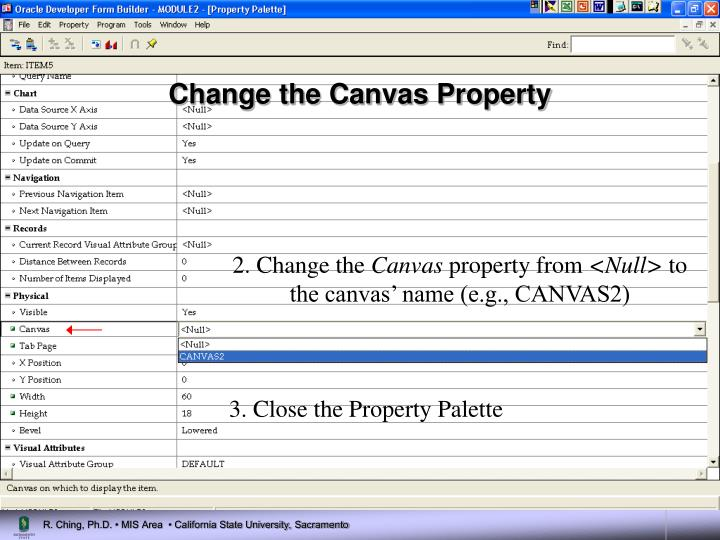 Change the Canvas Property