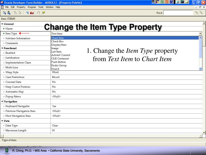 Change the Item Type Property